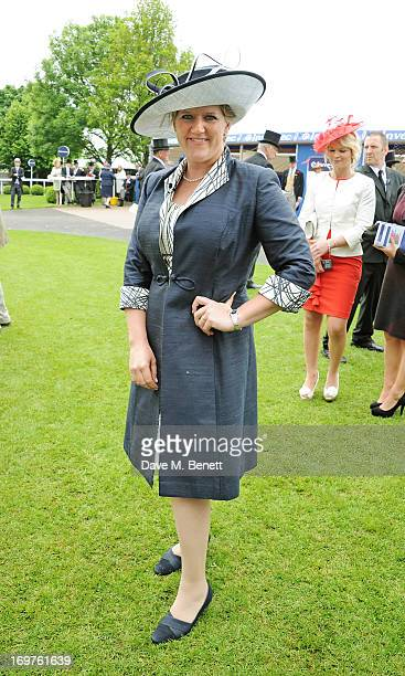 Clare Balding attends Derby Day at the Investec Derby Festival at Epsom Racecourse on June 1 2013 in Epsom United Kingdom