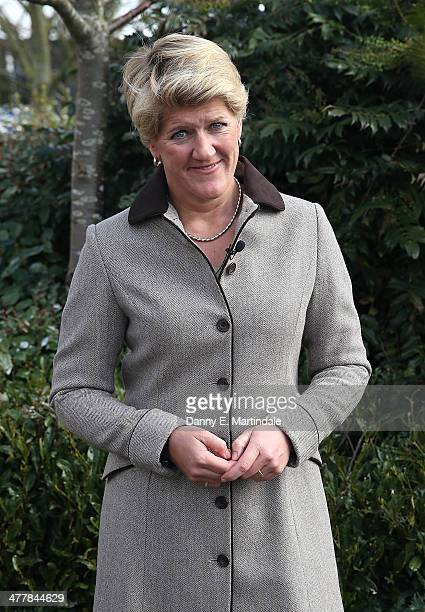 Clare Balding attends on day 1 of The Cheltenham Festical at Cheltenham Racecourse on March 11 2014 in Cheltenham England