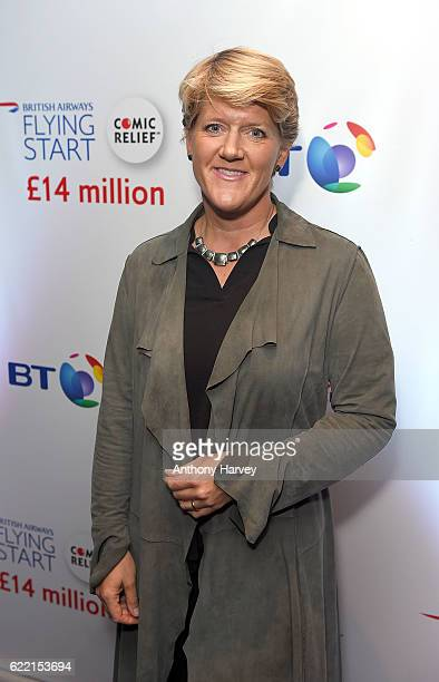 Clare Balding attends the British Airways Flying Start event at BT Tower on November 10 2016 in London England The event celebrates British Airways...