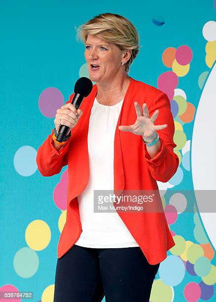 Clare Balding attends 'The Patron's Lunch' celebrations to mark Queen Elizabeth II's 90th birthday on The Mall on June 12 2016 in London England