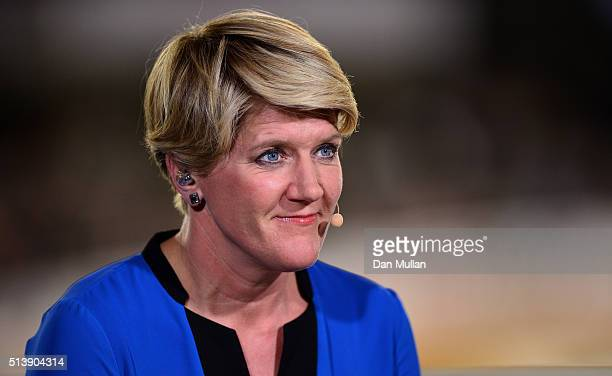 Clare Balding hosts the BBC coverage during Day Four of the UCI Track Cycling World Championships at Lee Valley Velopark Velodrome on March 5 2016 in...