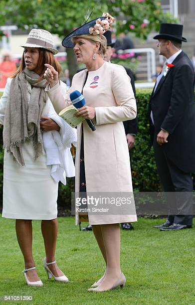 Clare Balding on day 5 of Royal Ascot at Ascot Racecourse on June 18 2016 in Ascot England