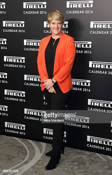 Clare Balding Photocall to launch the 2016 Pirelli Calendar by Annie Leibovitz at Grosvenor House on November 30 2015 in London England