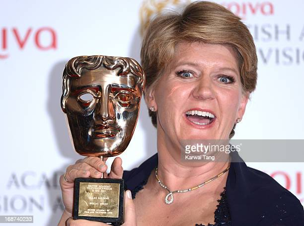 Clare Balding poses in the press room at the Arqiva British Academy Television Awards 2013 at the Royal Festival Hall on May 12 2013 in London England