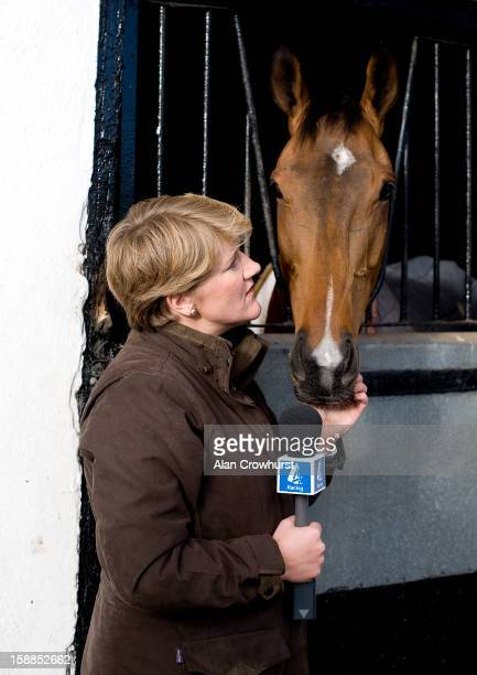Clare Balding presents Channel 4 Racing as it broadcast its first programme produced by IMG at Nicky Henderson's Seven Barrows Stables on January 01...