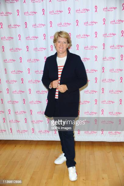 Clare balding seen during the Shoot for Pink Celebrity charity netball match at the Copper Box Olympic Park Stratford London
