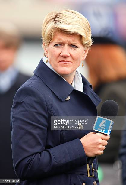Clare Balding seen presenting for Channel 4 Racing on Day 3 of the Cheltenham Festival at Cheltenham Racecourse on March 13 2014 in Cheltenham England