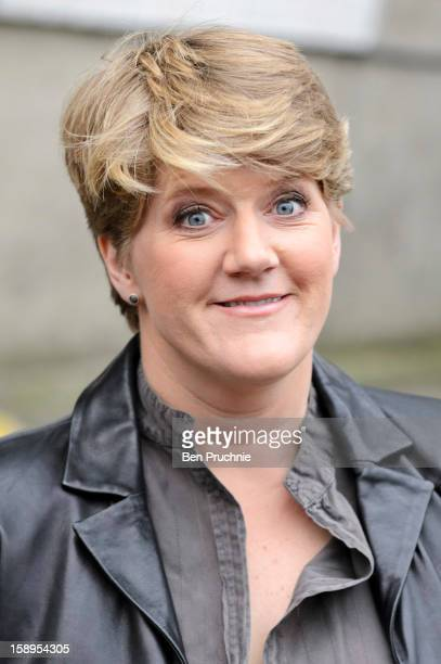 Clare Balding sighted departing ITV Studios on January 4 2013 in London England