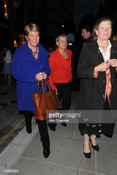 Clare Balding sighting in Mayfair on June 10 2013 in London England