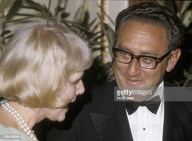 Clare Boothe Luce and Henry Kissinger during Project Hope Dinner at The Plaza Hotel in New York City, New York, United States.