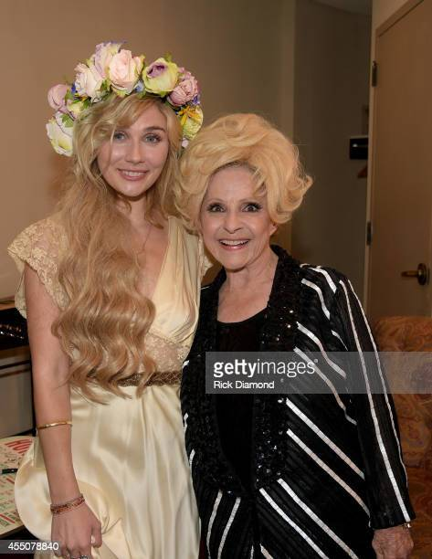 Clare Bowen and Brenda Lee attend the 8th Annual ACM Honors at Ryman Auditorium on September 9 2014 in Nashville Tennessee