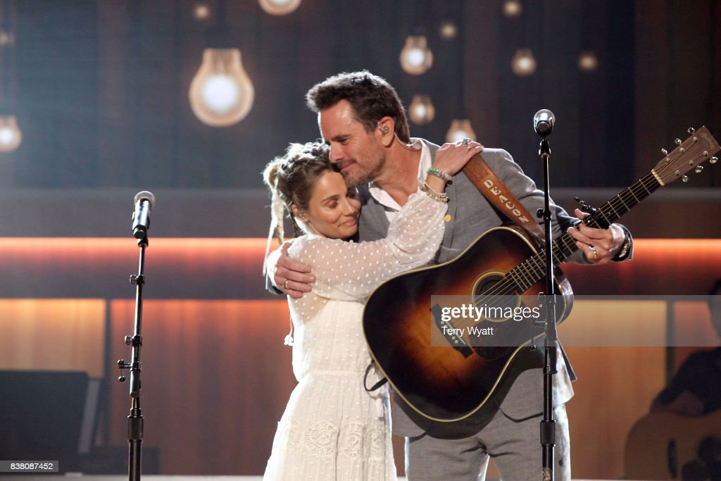 Clare Bowen and Charles Esten perform onstage during the 11th Annual ACM Honors at the Ryman Auditorium on August 23, 2017 in Nashville, Tennessee.