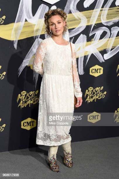 Clare Bowen attends the 2018 CMT Music Awards at Bridgestone Arena on June 6 2018 in Nashville Tennessee