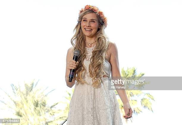 Clare Bowen performs onstage during day two of 2015 Stagecoach California's Country Music Festival at The Empire Polo Club on April 25 2015 in Indio...