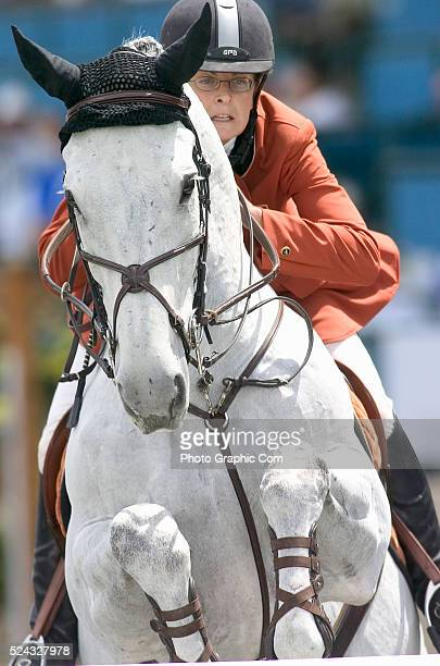 Clare Bronfman competes in the 2004 Bayer/USET Festival of Champions Presented by State Line Tack at the Del Mar Fair Grounds in Del Mar California