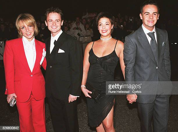Clare Buckfield Declan Donnoly Lisa Armstrong and Ant McPortland arrive at The Royal Albert Hall for the National TV awards