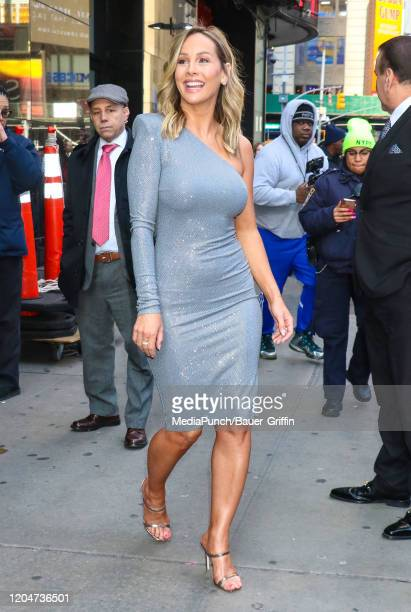 Clare Crawley is seen exiting 'Good Morning America' TV Show on March 02, 2020 in New York City.