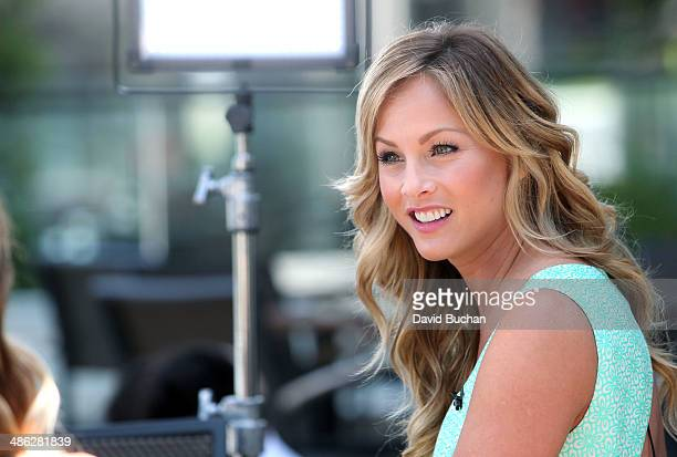 Clare Crawley Visits EXTRA at Westfield Century City on April 16 2014 in Los Angeles California