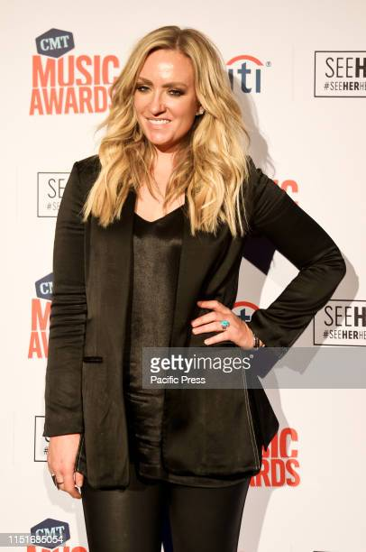 Clare Dunn attends the CMT SeeHerHearHer event at the Cambria Hotel in Nashville Tenneessee
