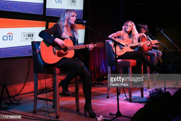 Clare Dunn Lindsay Ell and Erin Enderlin perform at the CMT Next Women of Country #SeeHerHearHer event