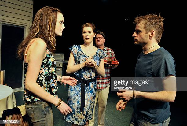 Clare Dunne as Sharon Justine Mitchell as Mary Stuart McQuarrie as Ben and Will Adamsdale as Kenny in Lisa D' Amour's Detroit directed by Austin...
