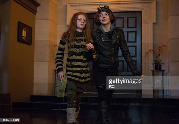 Clare Foley and Camren Bicondova in the Rogues' Gallery episode of GOTHAM airing Monday Jan 5 2015 on FOX