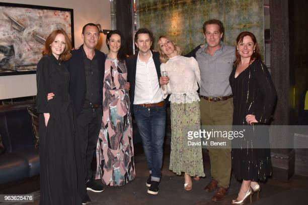 Clare Foster Stephen Campbell Moore Sian Clifford Lee Ingleby Claudie Blakley Adam James and Heather Craney attend the press night after party for...