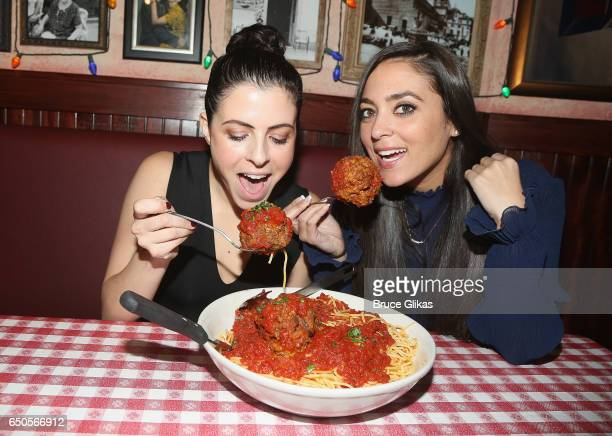 Clare Galterio and her cohost Sammi 'Sweetheart' Giancola celebrate National Meatball Day with a 'Just Sayin' LIVE Podcast' at Buca di Beppo Times...