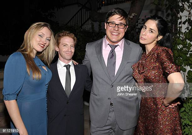 Clare Grant, actor Seth Green, actor Rich Sommer and comedian Sarah Silverman attend the Entertainment Weekly and Women in Film pre-Emmy Party...