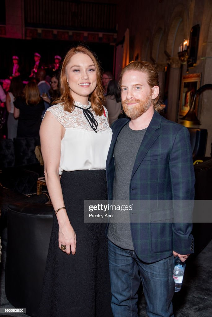 Clare Grant and Seth Green attend after party for the premiere of truTV's 'Bobcat Goldthwait's Misfits & Monsters' at Hollywood Roosevelt Hotel on July 11, 2018 in Hollywood, California.