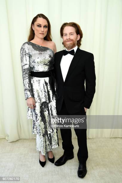 Clare Grant and Seth Green attendd the 26th annual Elton John AIDS Foundation Academy Awards Viewing Party sponsored by Bulgari, celebrating EJAF and...