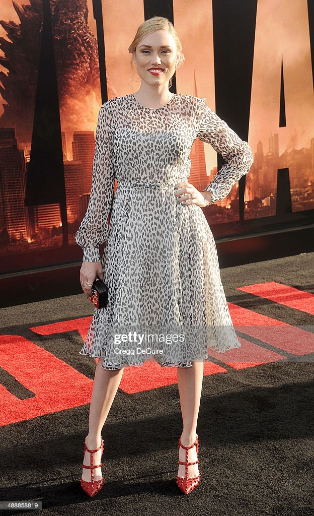 Clare Grant arrives at the Los Angeles premiere of 'Godzilla' at Dolby Theatre on May 8, 2014 in Hollywood, California.