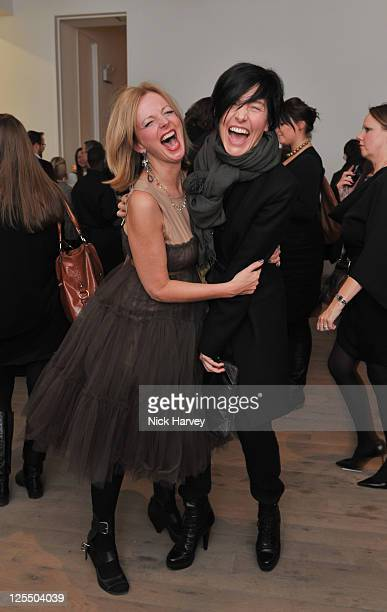 Clare Grogan and Sharleen Spiteri attend the private view of The Macallan Masters of Photography with Albert Watson at Phillips de Pury And Company...