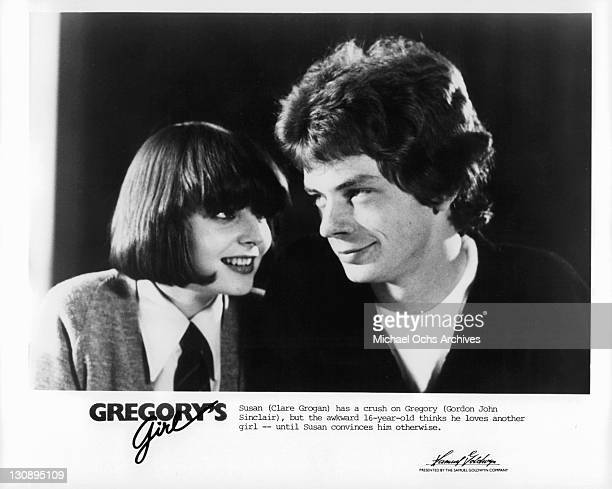 Clare Grogan has a crush on Gordon John Sinclair in a scene from the film 'Gregory's Girl' 1981