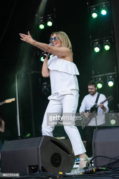 Clare Grogan of Altered Images performs at Lets Rock The Moor on May 19 2018 in Cookham England
