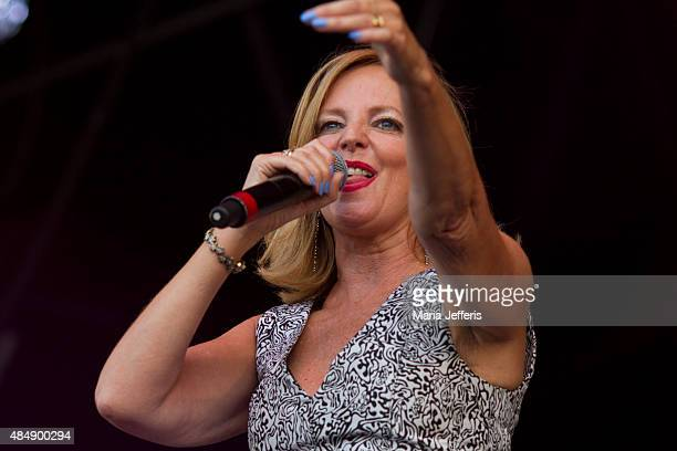 Clare Grogan of Altered Images performs at Temple Island Meadows on August 22 2015 in HenleyonThames England