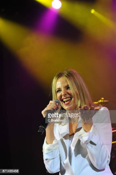 Clare Grogan of Altered Images performs on stage at the O2 Shepherd's Bush Empire on November 7 2017 in London England