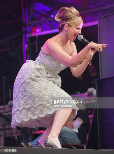 Clare Grogan of Altered Images performs on stage during Rewind Scotland the 80's music festival at Scone Palace on July 22 2012 in Perth United...
