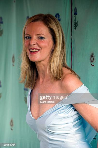 Clare Grogan poses backstage at Rewind Festival Day 2 at Scone Palace on July 30 2011 in Perth Scotland
