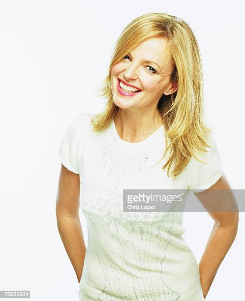Clare Grogan press shoot for the release of the best of Altered Images album Sony Music Studios London