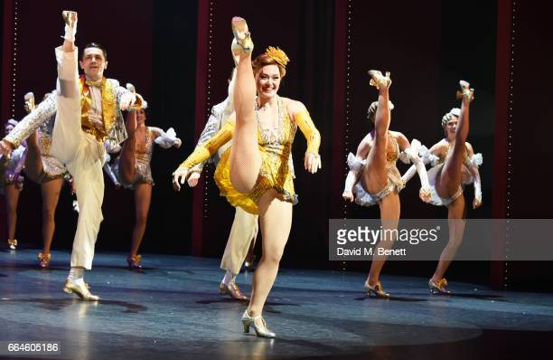 Clare Halse and cast members perform during the curtain call at the Opening Night Royal Gala performance of '42nd Street' in aid of the East Anglia...