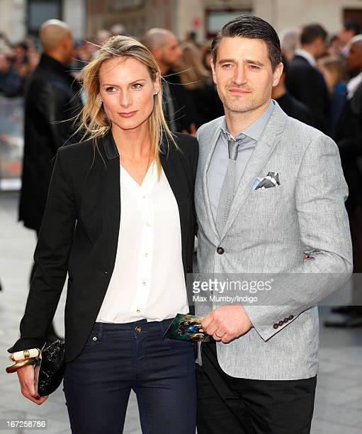 Clare Harding and Tom Chambers attend a special screening of 'Iron Man 3' at Odeon Leicester Square on April 18, 2013 in London, England.