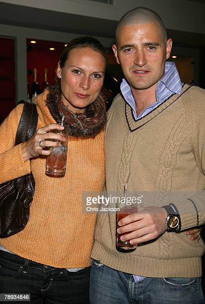 Clare Harding and Tom Chambers attend Russia's Old New Year Party held at the Fifth Floor Bar, Harvey Nichols, on January 14, 2008 in London, England.