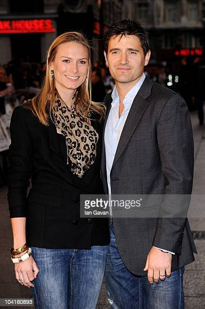 """Clare Harding and Tom Chambers attend """"The Death And Life Of Charlie St Cloud"""" UK film premiere at the Empire Leicester Square on September 16, 2010..."""