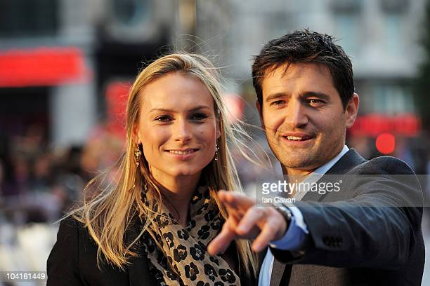 Clare Harding and Tom Chambers attend The Death And Life Of Charlie St Cloud UK film premiere at the Empire Leicester Square on September 16 2010 in...