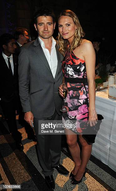Clare Harding and Tom Chambers attend the F1 Party, at the Natural History Museum on July 5, 2010 in London, England.