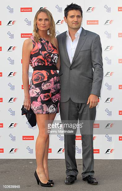 Clare Harding and Tom Chambers attend The F1 Party in aid of Great Ormand Street Hospital Children's Charity at Natural History Museum on July 5 2010...