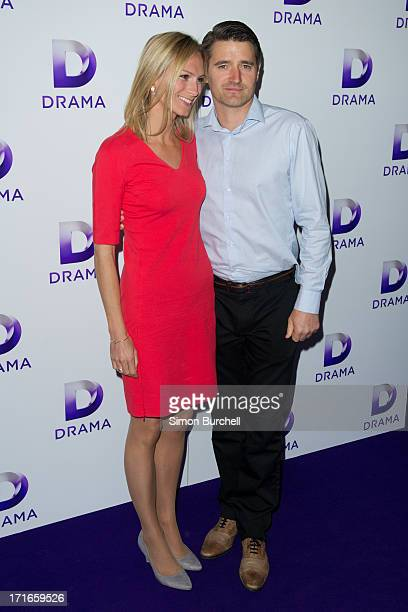 Clare Harding and Tom Chambers attend the launch of the new UKTV channel 'Drama' on June 27, 2013 in London, England.