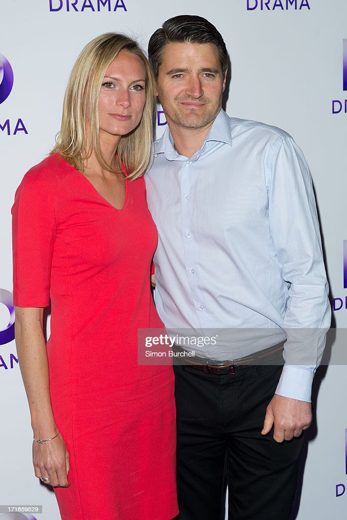 Clare Harding (L) and Tom Chambers attend the launch of the new UKTV channel 'Drama' on June 27, 2013 in London, England.