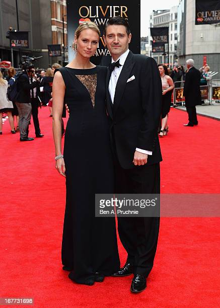 Clare Harding and Tom Chambers attend The Laurence Olivier Awards at the Royal Opera House on April 28, 2013 in London, England.